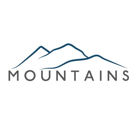 mountains abstract illustration  イラスト・ベクター素材