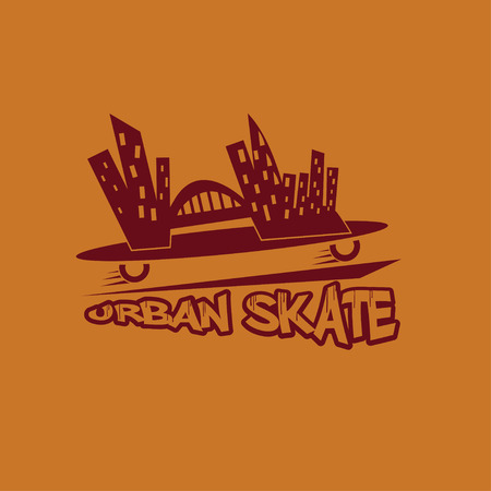 urban skate vector design template Vector