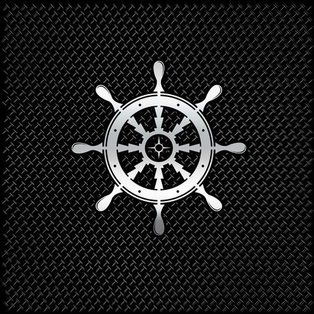 elite sport: silver wheel on metal background