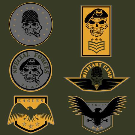 Special unit military emblem set