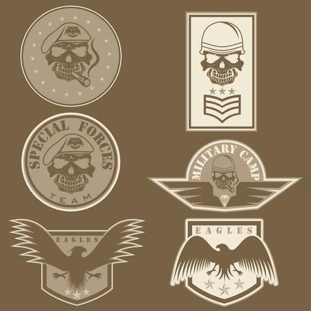 Special unit military emblem set Illustration