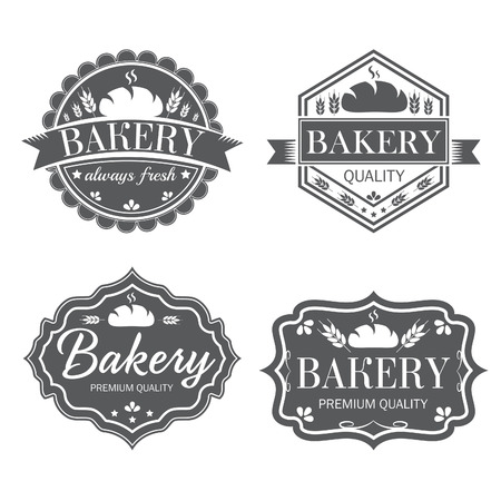 Collection of vintage retro bakery logo labels Stock fotó - 34527556