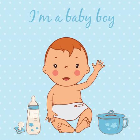 Ilustración de lindo bebé. Vector