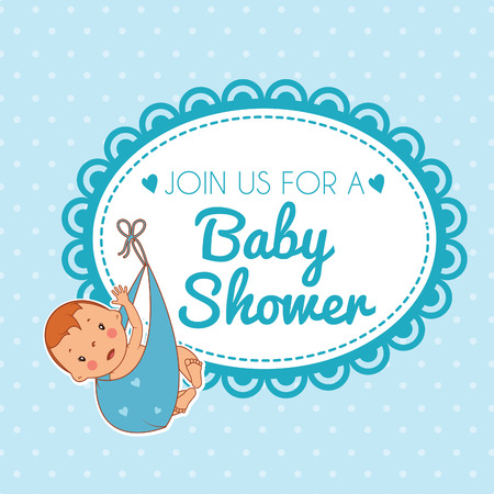 soother: Illustration of cute baby boy. Vector Illustration