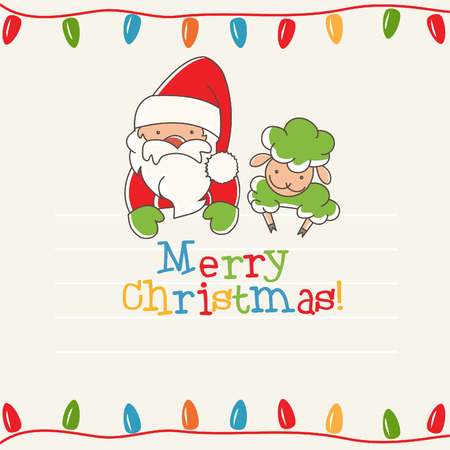 Illustration of christmas greeting card. Vector Vector