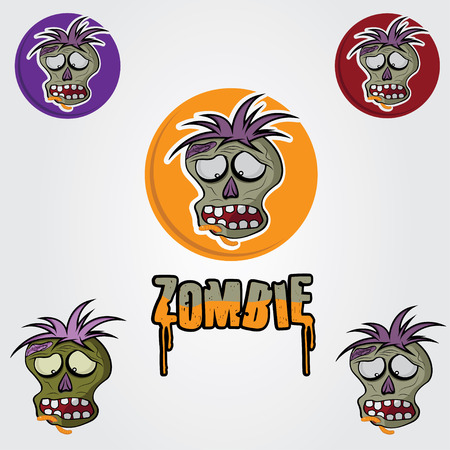 reanimated: Cartoon Zombie face design template