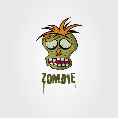 Cartoon Zombie face design template