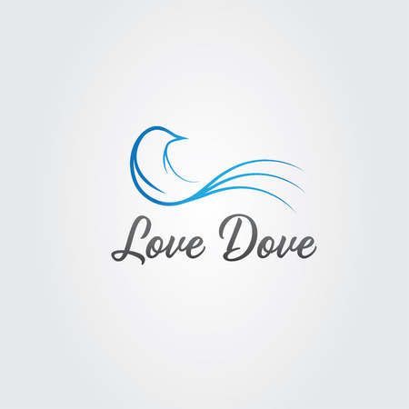 banner of peace: love dove design template