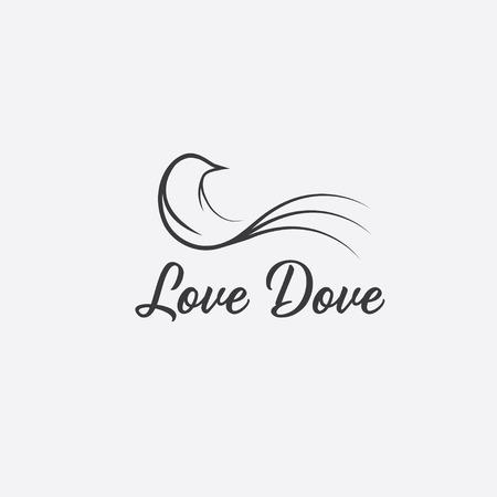 love dove design template Vector