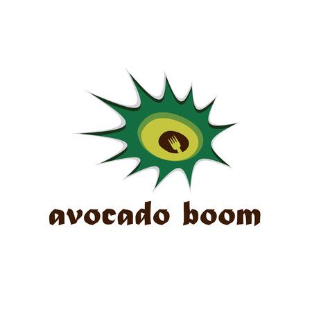 avocado: avocado boom concept design template