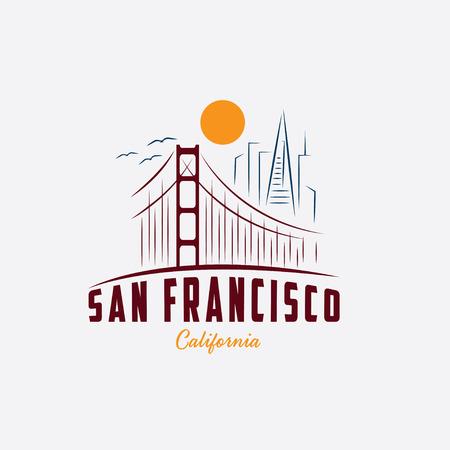 샌프란시스코 디자인 서식 파일의 스카이 라인