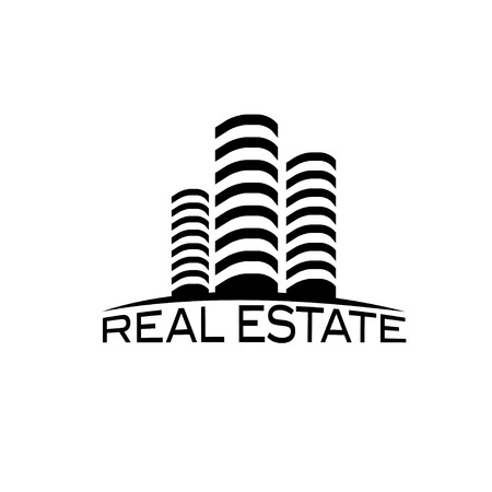 multi storey: real estate design template Illustration