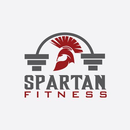 ancient civilization: spartan fitness design template