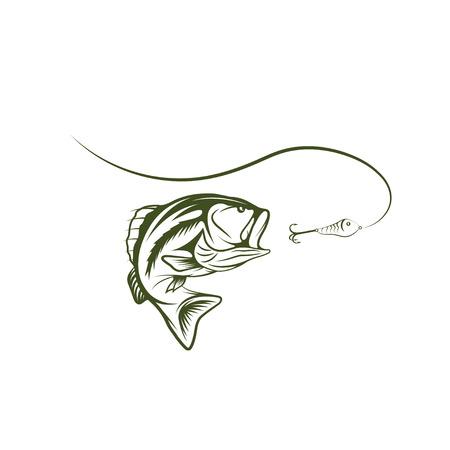 Bajo y diseño señuelo plantilla Foto de archivo - 35238919