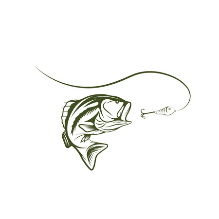 bass and lure design template Vector