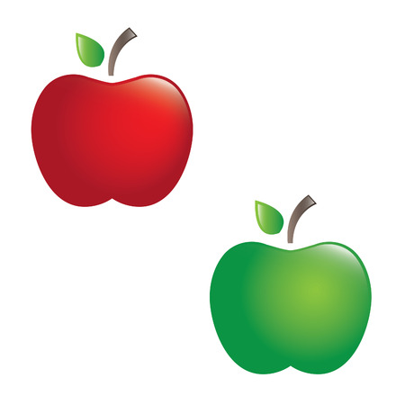 juicy: Illustration of juicy apples. vector