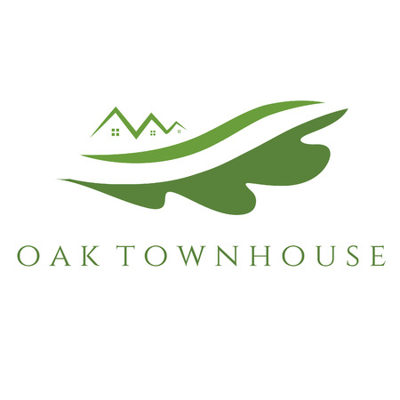 townhouse: Illustration concept of oak townhouse. vector