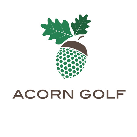 Illustration of concept acorn golf. Vector