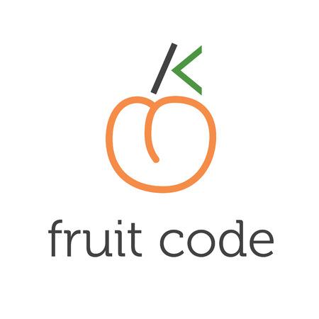 stylesheet: Illustration of concept fruit code. vector