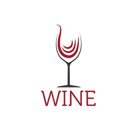 wine  shabby: wineglass vector design template Illustration