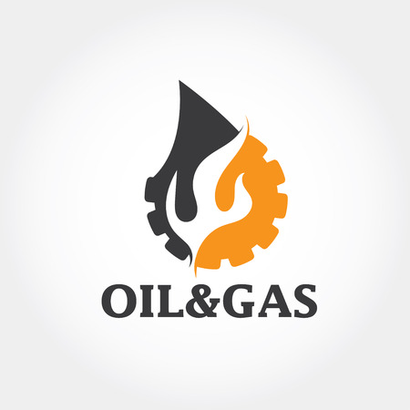 oil and gas industry vector design template Illustration