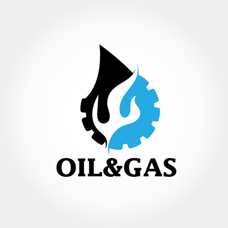 oil and gas: oil and gas industry vector design template Illustration