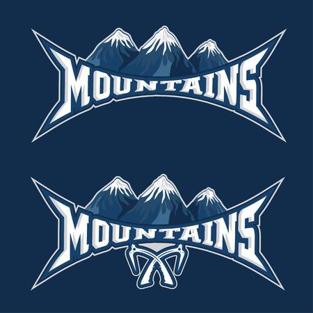 mountains sport team emblem vector design template Vector