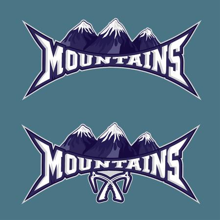 Montagnes équipe sportive vecteur emblème modèle de conception Banque d'images - 35805767