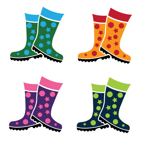 gumboots: set of colorful gumboots