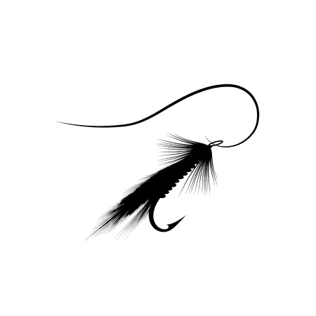 trout fishing: Fly fishing lure Illustration