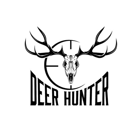 deer: deer skull with target design template