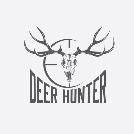head of animal: deer skull with target design template