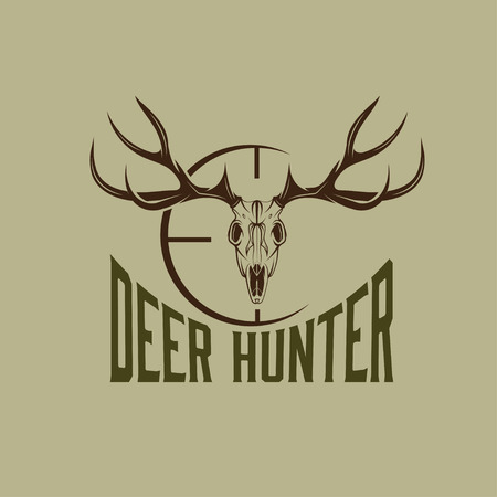 deer skull with target design template