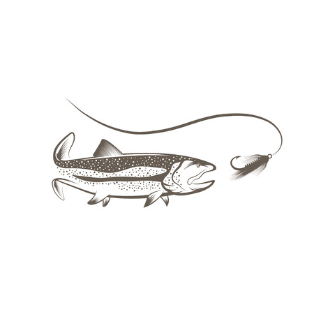 trout and lure design template