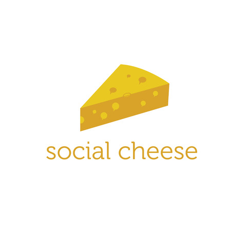 grated cheese: social cheese concept design template