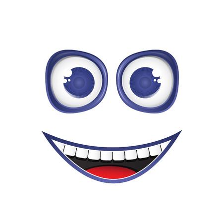 Illustration funny smile. Vector