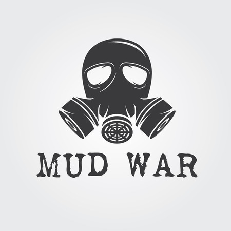 biological warfare: gas mask vector design template Illustration