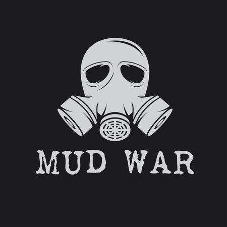 mascara de gas: máscara de gas plantilla vector