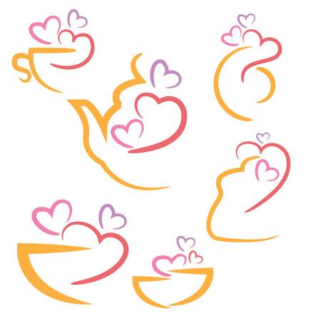 cookware: Resumen ilustraci�n establece iconos de cocina utensilios de cocina. Vector