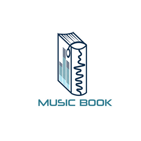 telecoms: music book vector design template Illustration