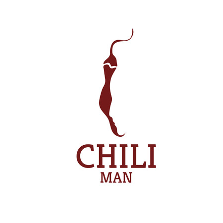 pungent: hot chili pepper with face design template
