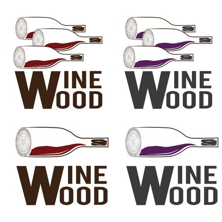 wine  shabby: wine wood concept vector design template Illustration