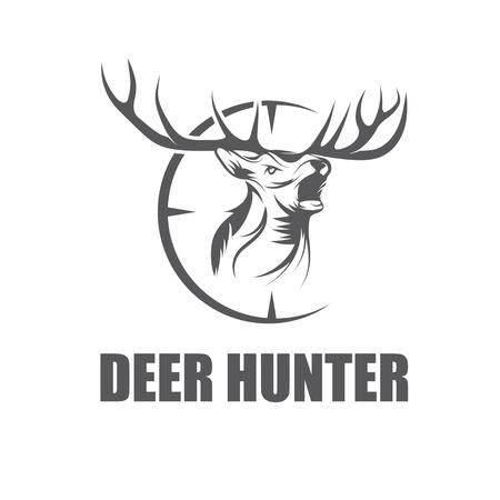 deer hunter: deer hunter vector design template Illustration