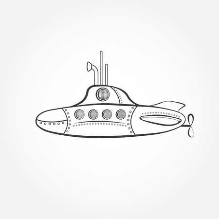 cartoon submarine: cartoon submarine vector design template Illustration