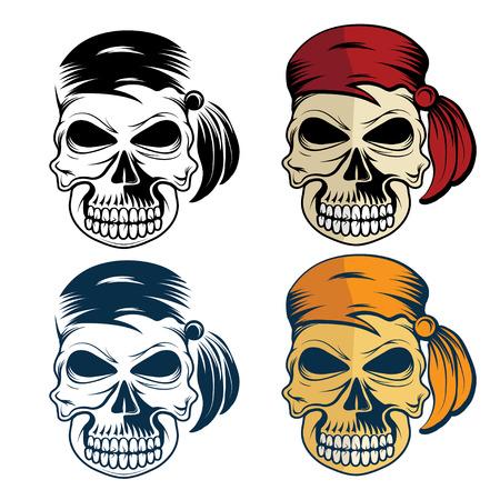 privateer: pirates skull set Illustration
