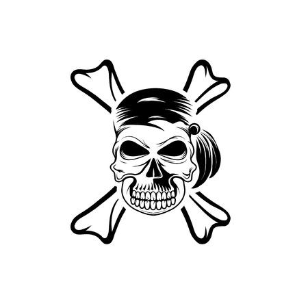 rover: pirate skull with bones Illustration