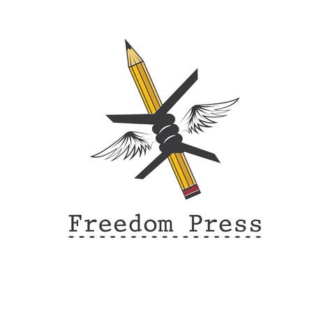 freedom press concept vector design template Vector