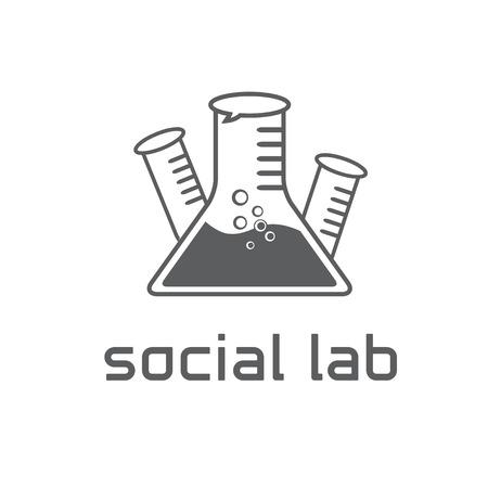 forensics: social lab concept vector design template Illustration