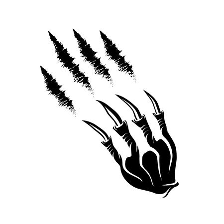 hand torn: monster claws and claws marks Illustration