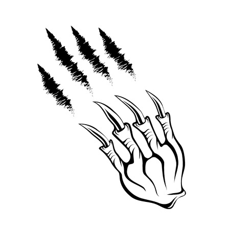 talon: monster claws and claws marks Illustration